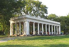 Probably my ideal location for the engagement party cookout.  Grecian shelter at prospect park