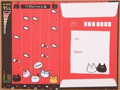 cute red cat music Letter Set from Japan $3.24 http://thingsfromjapan.net/cute-red-cat-music-letter-set-from-japan/ #neko #cat #kawaii Japanese stationary #Japanese stuff #cute letter set