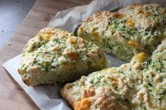 Zucchini and Cheddar Scones - similar to a recipe for zucchini cheddar biscuits we make from Serving up the Harvest by A. Chesman