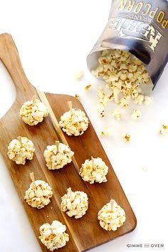 Naturally-Sweetened Honey Popcorn Balls : gimmesomeoven