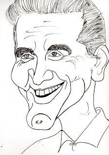 CARICATURAS DELBOY: KIRK DOUGLAS