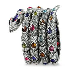 Shop For Stretch Snake Bracelet,okajewelry Multicolored Four Circles Coiled Stretch Snake Bracelet features a coiled stretch serpent snake.