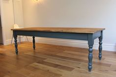 Pine 8ft x 3ft Farmhouse Dining Kitchen BoardroomTable - hand made to order in Home, Furniture & DIY, Furniture, Tables | eBay