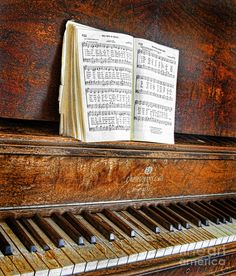 The beauty of an antique piano....love this.
