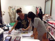 Nuestra creadora Donatella Villari, en nuestro showroom en Italia #BambiniAllaModa #DonatellaVillari www.gigiotopo.com