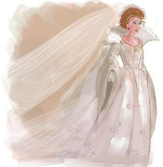 """Holy moly! Her drawings are amazing. The All Souls trilogy will always be my favorite series. fetchgoodyalsop: """"an old AST costume piece from my sketchbooks. diana's wedding gown…created by marie, of saint-lucien. """""""