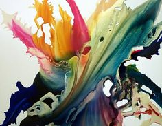 YOU KNOW WHAT WOULD BE COOL?! Making a sculpture that looked like a paint splashing into a bucket!!! Spring Fever by Krispen Art<3<3<3