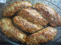 Berenjenas rellenas de pollo con thermomix, Relleno, Sausage, French Toast, Meat, Vegetables, Breakfast, Food, Gastronomia, Salads