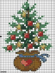 Cross Stitch Christmas tree