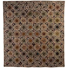 Glazed Chintz Sunflower Quilt, 1840's - I love this quilt that's why I've made a similar one.  Just have to put it together now!  LOVE LOVE LOVE IT