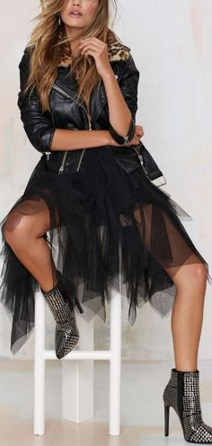 Just Like Heaven Mesh Tutu Skirt