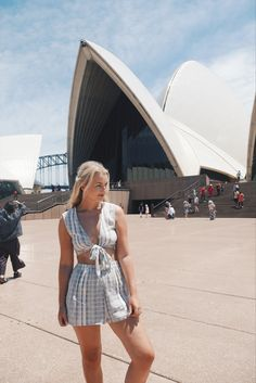 ASOS Stripe co ord Sydney opera house The Little Blonde Life barefoot blonde hair extensions holiday Australia travel backpacking bikini striped stripes