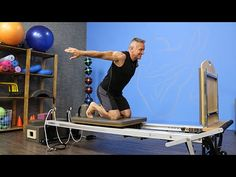 Kneeling Butterfly Jump on the Pilates Reformer - YouTube