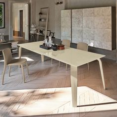 Kitchen table Magellano by Target Point lacquered metal structure at My Italian Living Ltd.  Italian interior design   Modern dining room interior   Contemporary interior design  