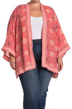 Max Studio | Printed Open Front Kimono | Nordstrom Rack Long Kimono, Kimono Top, Mandala Print, Boho Fashion, Sweaters, Cardigans, Boho Style, Plus Size, Studio