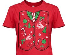 WOMENS Ugly Sweater Vest T-Shirt funny christmas shirt, perfect for christmas party, happy holidays, jingle bells, holiday spirit S-2XL
