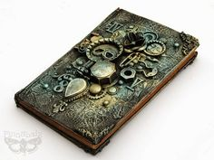 Finnabair: Art Recipe: Industrial Book Cover  -  this looks easy enough for me to try!
