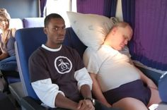 Hilarious...This happened to me on the ride home from Vegas. Too bad I was the guy on the left.