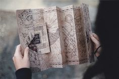 "Marlene looking at the Marauders Map for this first time. ""This explains a shockingly large amount."" Taken by Sirius Black, 1979"