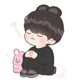 Jungkook Fanart, Vkook Fanart, Jungkook Cute, Bts Chibi, Theme Bts, Chibi Wallpaper, Kpop Drawings, Dibujos Cute, Cute Kawaii Drawings