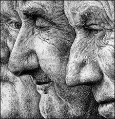 Drawing lessons put to practice: wrinkles on faces