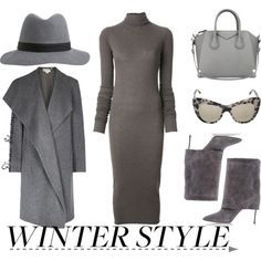 A fashion look from December 2014 featuring Rick Owens Lilies dresses, pureDKNY coats and Casadei ankle booties. Browse and shop related looks.
