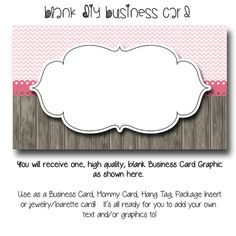 Diy blank business card template the lovely shoppe made to match dyi blank business card template the chloe made to match etsy sets and facebook cheaphphosting Image collections