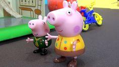 Peppa Pig en español. Peppa y George excavan el dinosaurio. George encue...
