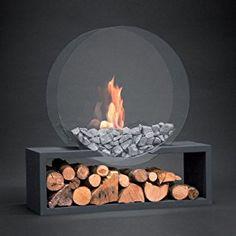 Alfra Bioethanol Fireplace Julius Round D anthracite: Amazon.co.uk: DIY & Tools