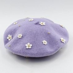 Lavender Aesthetic, Purple Aesthetic, Korean Aesthetic, Pretty Outfits, Cute Outfits, Beret Outfit, Soft Purple, Lilac, Wool Berets
