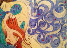 Ondas - Moleskine - caneta fine line e lápis aquarela  #tapiocacomlimao #arte #ilustração #design #desenho