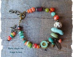 Bracelet bohémien Sundance Style bijoux pierres par BohoStyleMe