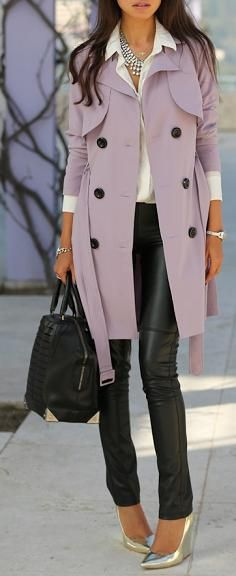 LOVE that lavender trench!