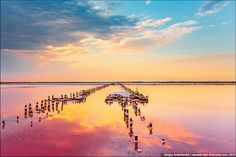 This abandoned salt field in Crimea, Ukraine is perhaps the most beautiful abandoned place in the world