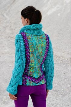 Fabric and knit jacket