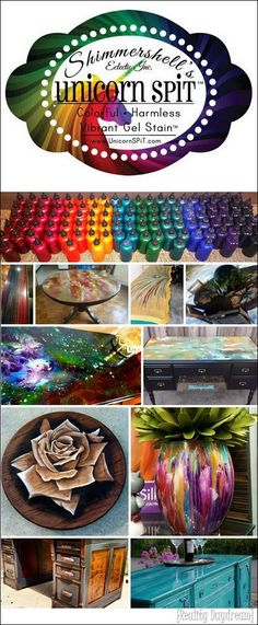 So many gorgeous furniture makeovers using Unicorn Spit! {Reality Daydream}