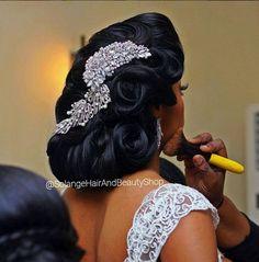 Black Brides Hairstyles, Bride Hairstyles, Wedding Hair And Makeup, Hair Makeup, Natural Hair Styles, Short Hair Styles, Wedding Hair Inspiration, Hair Dos, Hair Beauty