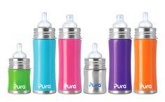 Pura: Kiki® 11 oz Stainless Steel Infant Bottles
