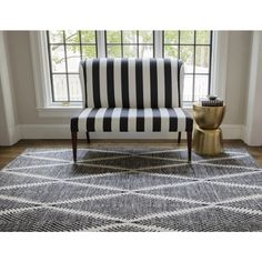 """Erin Gates by Momeni River Beacon Black 5' X 7'6"""" Indoor Outdoor Hand Woven Area Rug   Overstock.com Shopping - The Best Deals on Outdoor Rugs"""