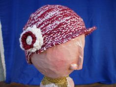 Red and white knit hat set by katewalter1 on Etsy, $85.00