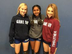 """It's Game Day! - Our newest line of apparel """"GAME DAY"""" Fun to pick your team or school color. They say Bring It on the Hood and Volleyball on the sleeve. - Nicely packaged with a volleyball ribbon, headband and volleyball bracelet. Make sure you make your ribbon into hair ties! Makes a great gift. - We can make it anyway you like, just leave us a comment at check out if you want to omit the Bring It or Volleyball or add a different sport on the sleeve! - Don't see your color just let us know…"""