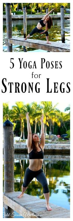 Use this yoga sequence to get strong legs, fast! Low impact exercises that will even help you recover from knee injury! This yoga tutorial and inspiration will walk you through how to do each yoga pose. #legday #yogaworkout #yogaforstrength