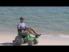 A beach wheelchair design - YouTube video of man using a wheelchair designed for the beach!