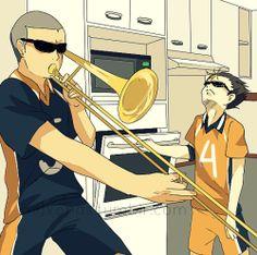 myart haikyuu Haikyuu!! Nishinoya Yuu ryuunosuke tanaka - When Dadchi's away...