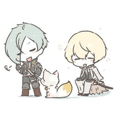 刀剣乱舞 touken ranbu Anime Chibi, Kawaii Chibi, Touken Ranbu, Manga, Cute, Fictional Characters, Sticker, Twitter, Artists