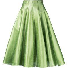 Bambah full midi skirt ($789) ❤ liked on Polyvore featuring skirts, green, green midi skirt, midi skirt, green skirt, mid-calf skirt and calf length skirts