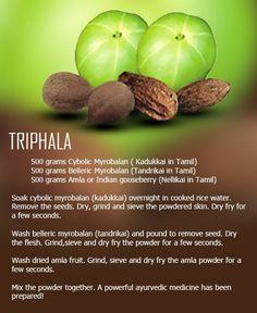 How to make Triphala? Ayurveda Vata, Ayurvedic Practitioner, Health Images, Natural Health Remedies, Alternative Medicine, Herbal Medicine, Get Healthy, Herbalism, Health Fitness
