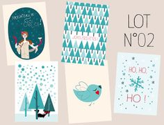 Illustrated Christmas Cards by MzelleFraise for $20 via etsy.com #christmas #editorspick