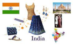 """world - india"" by cardissa on Polyvore featuring MIA, Diego Percossi Papi, Mercedes Salazar and Oscar de la Renta"