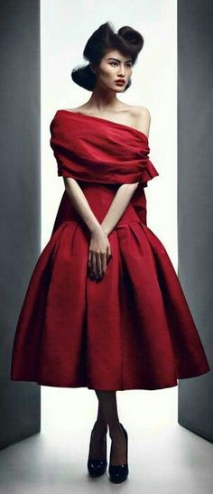 Christian Dior Haute Couture ~ Cocktail Dress, Scarlet